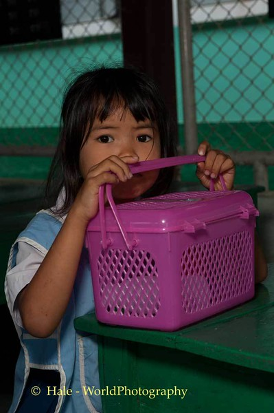 Young Student and Her Lunchbox