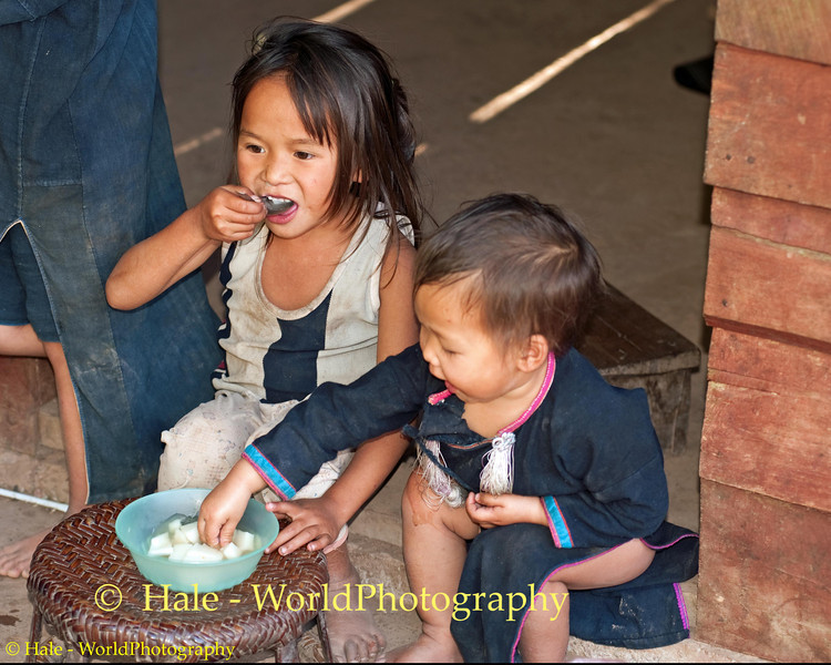 Lanten Children Having A Snack