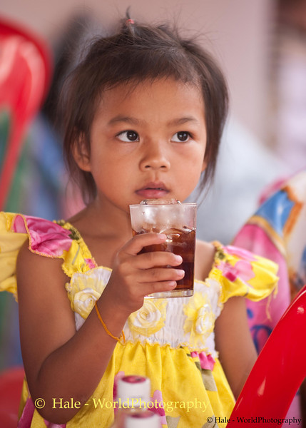 Young Wedding Guest Drinking Soda