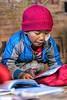 Five Year Old Monk Studies English