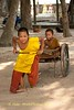 Two Novice Monks Having Some Fun