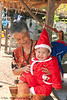 Santa Peelawat With His Great Grandmother