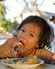 Learning to Use Chopsticks in Vientiane, Laos