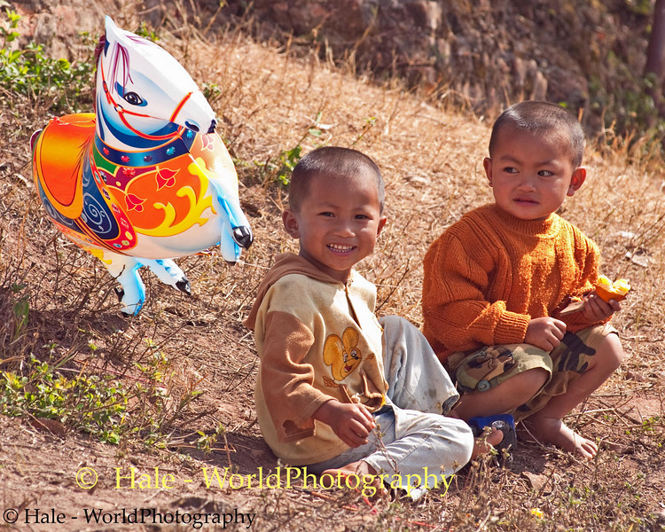 Young Friends at Local Festival in Luang Namtha, Laos
