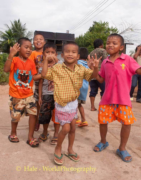 Young Villagers Dancing In the Street