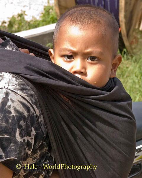 Suspicious Young Boy Near Pai, Thailand