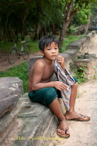 Young Boy At Beng Mealea In Cambodia