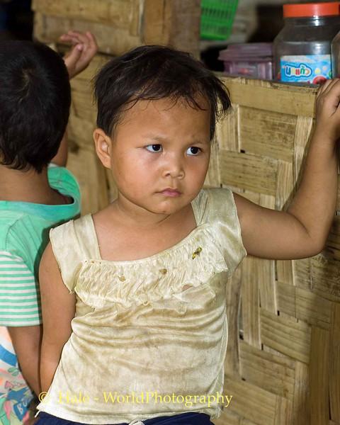 Sad Girl In Refugee Camp, Maehongson Thailand