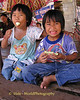 Village Friends Enjoying Lunch - Tahsang Village Thailand