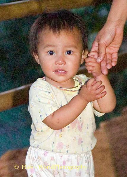 A Shy Hmong Infant, Chaing Mai Thailand