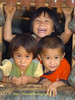 Hmong Chidren Outside of Chiang Rai Inside a Bunker