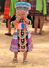 Young Hmong Girl in Traditional Clothing at New Year's Festival in Luang Prabang, Lao People's Democratic Republic