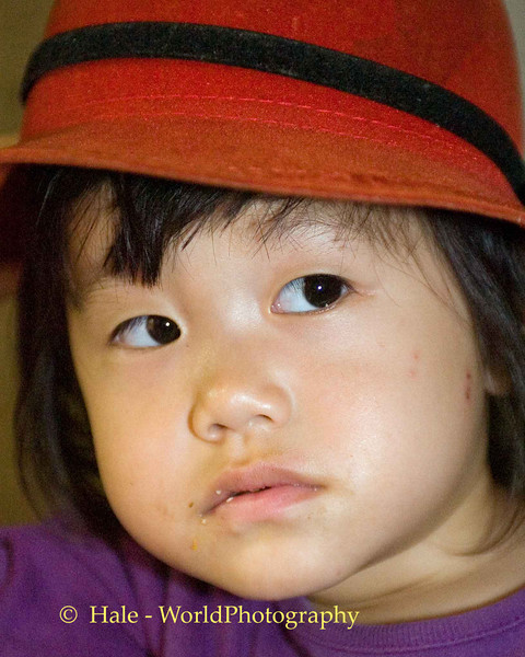 Girl in Red Hat, KMT Village near Maehongson Thailand