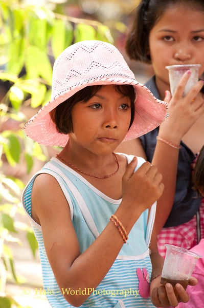 Young Lao Loum Girl Dances to Mahlam Lao Music In Tahsang Village, Thailand