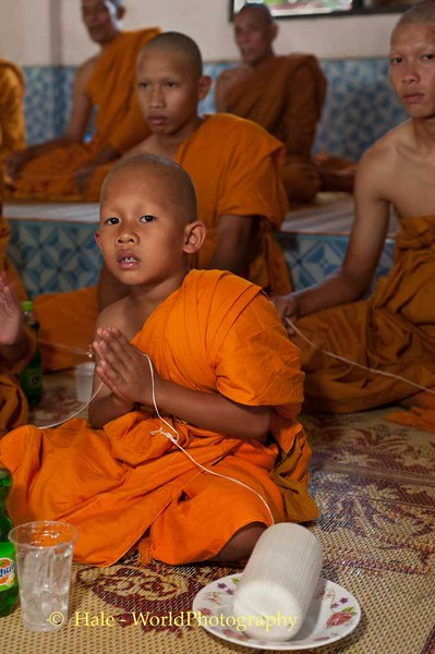Young Monk at Funeral