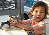 Lao Girl and Her Kitty, Vientiane Laos