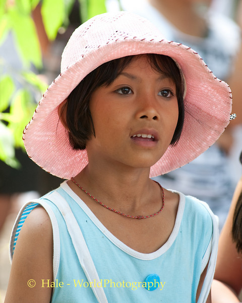 Young Lao Loum Girl Enjoying Mahlam Lao Music In Tahsang Village, Thailand