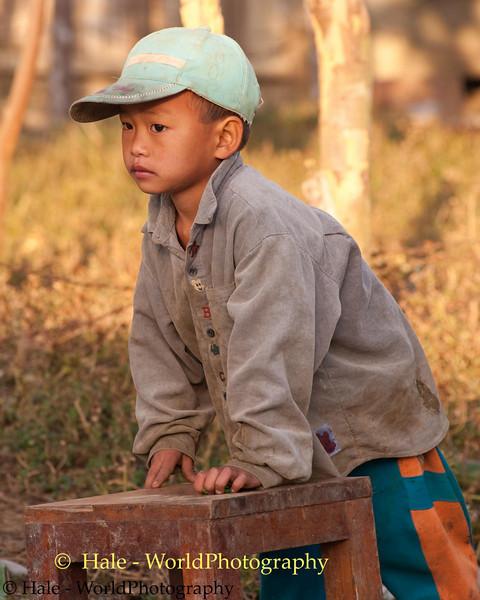 Young Boy At Lanten Village of Ban Pakha, Laos
