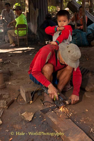 Lao Knife Maker and Son
