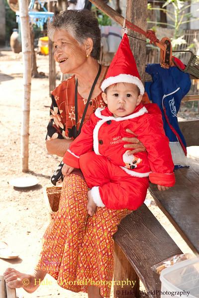 Santa Peelawat With His Great Grandmother