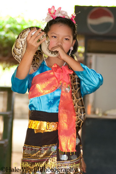 Young Student Performs In Kok Sa-nga King Cobra Village