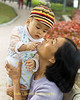 Loving Mother and Her Baby Son, Hanoi Vietnam
