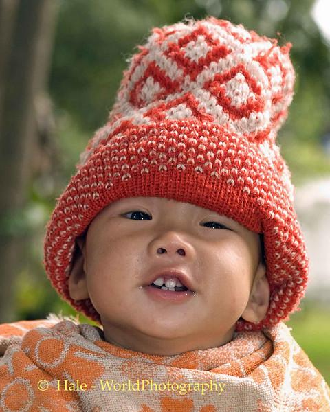 Happy Little Boy at Royal Palace Museum in Luang Prabang, Laos