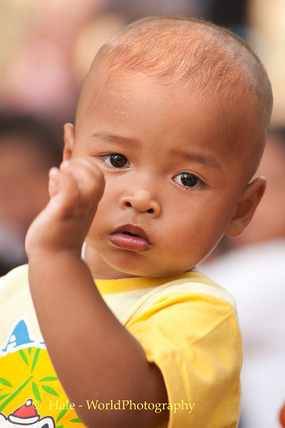 Baby Boy Dancing To Mahlam Lao Music In Isaan On Song Poo Day