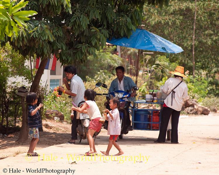 Tahsang Village Children Enjoying Songkran