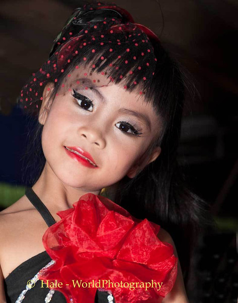 A Young Go-Go Dancer Backstage at Mahlam Lao Show