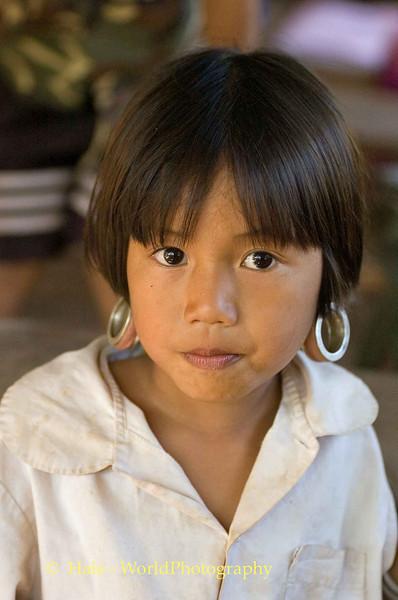 Young Kayaw Hill Tribe Girl, Maehongson Thailand