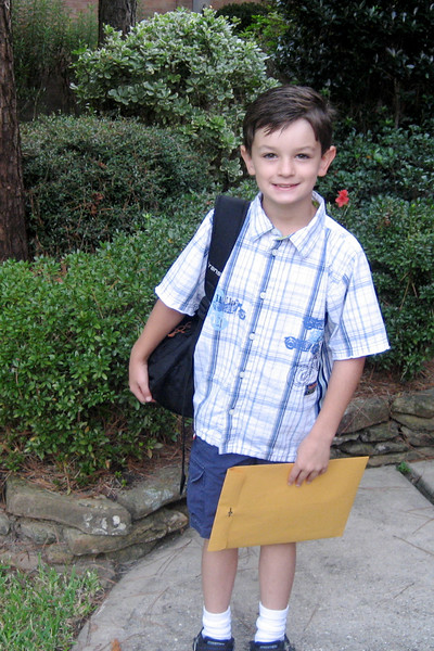 Ryan's First Day of 2nd Grade