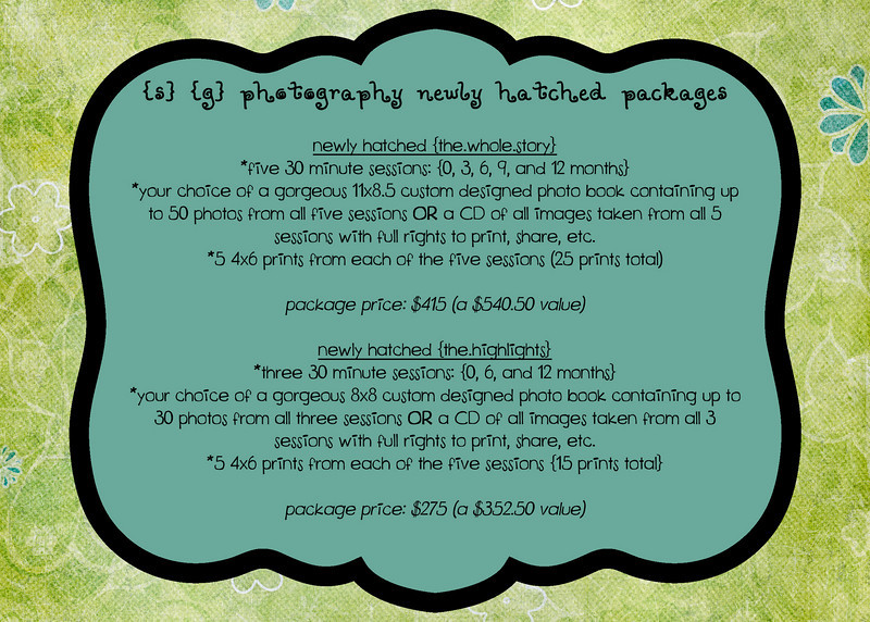 Newly Hatched Baby Photo Packages