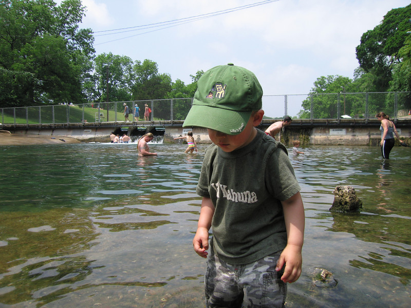 Playing in the redneck portion of Barton Springs