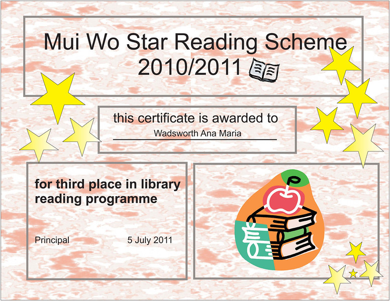 library certificate