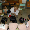 The NET teacher with kindergarten students