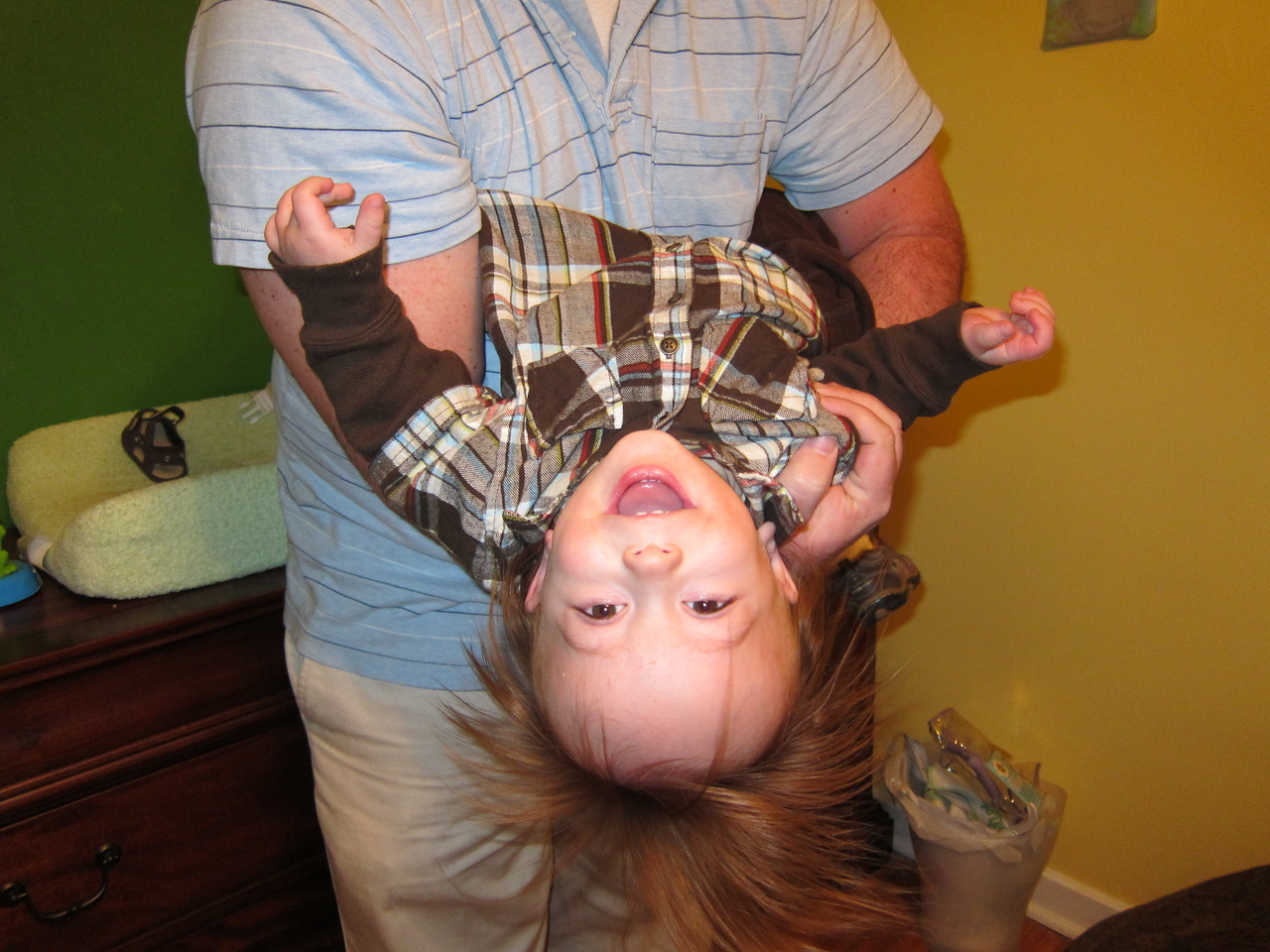 Upside down with daddy