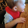 Video - He was kicking his legs a lot.  This was his second time at CB, but first time eating there.  He had yogurt.