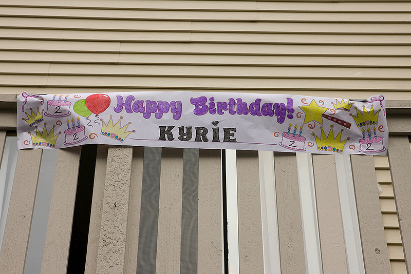 """Happy Birthday Kyrie"" party held 3-7-10 at Liz and Terry's place."
