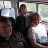 On the Downeaster train with Grammie & Grampie