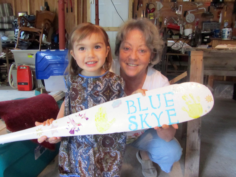 The new sign for Betty's camp, featuring the work of Grammie & Skye.