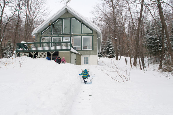 Our chalet has the perfect sledding hill