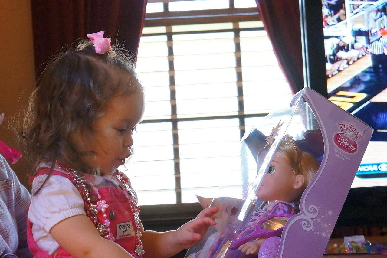 Ooooooh!  Rapunzel!  Thank you, Aunt Kathy!