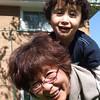 Horsing around with Grandma