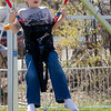 Alex McAndrew, 7, bounces around at the St. Bernard's Spring Carnival on Thursday afternoon during April vacation for the local schools. SENTINEL & ENTERPRISE / Ashley Green