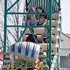 Kids on April vacation enjoy the rides at the St. Bernard's Spring Carnival on Thursday afternoon. SENTINEL & ENTERPRISE / Ashley Green