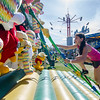 Arianna Lopez, 10, climbs a rope ladder at the St. Bernard's Spring Carnival on Thursday afternoon during April vacation for the local schools. SENTINEL & ENTERPRISE / Ashley Green