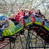 Kids ride the dragon coaster at the St. Bernard's Spring Carnival on Thursday afternoon during April vacation for the local schools. SENTINEL & ENTERPRISE / Ashley Green