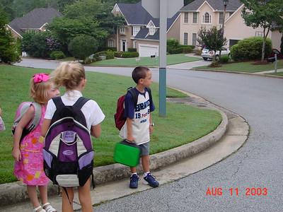 Start of School Fall of 2003