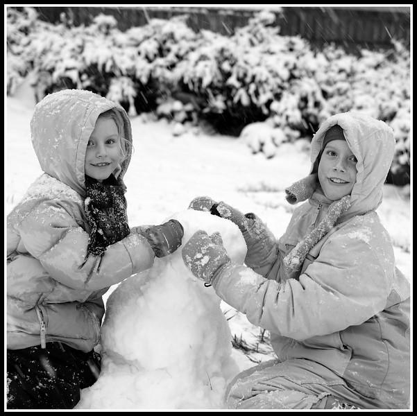 Snow Man Knoxville TN 1/17/2013